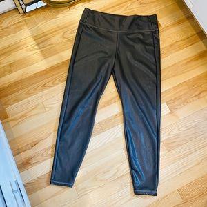 Athleta Faux Leather High Rise 7/8 Legging